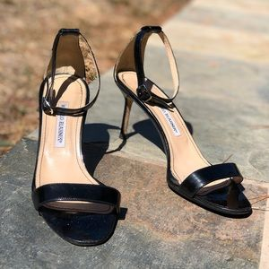 Authentic black Manolo Blahnik